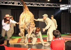 The dinosaur can get a little too hungry at times, and if handlers are not careful...