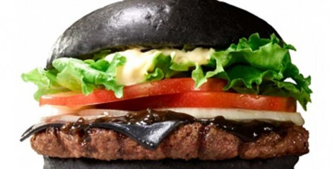 Black as pitch, indeed, is Burger King Japan's new item that does for sale on Sep. 19th. The secrets are bamboo charcoal but and squid ink ketchup among others.