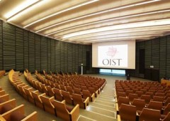 The OIST Auditorium provides the venue for the concert. (Photo OIST)