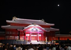 The doors to Okinawa's most famous tourist attraction, Shuri Castle in Naha City, are open and free for the Chushu no Utage mid-autumn celebration both Saturday and Sunday starting at 6:30 p.m.