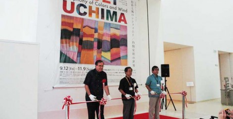 """Ansei Uchima's """"Symphony of Colors and Wind"""" exhibition opening ceremony was held on Sep. 12. The exhibition runs through Nov. 9."""