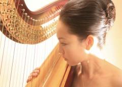 Harpist Rie Oki