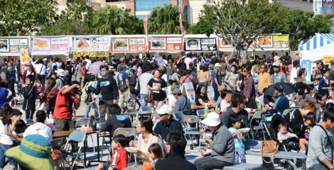 Some 30,000 people visited last year's C-1 Gourmet Championships in Mihama.