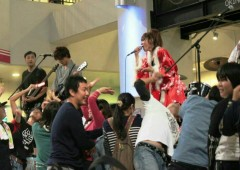 Performers at Animageddon event entertain the audience dressed in character garments.