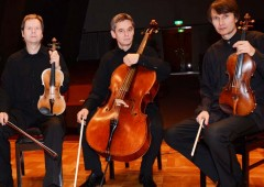 The Czech Philharmonic String Trio accompanied by flutist Kei Togushi will play in Naha on Saturday.
