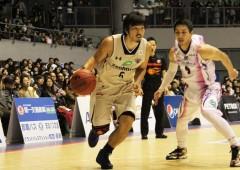 King's Shigeyuki Kinjo mounting an offense.