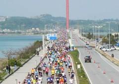 The race course follows the Sea Road connecting Henza and Hamahiga island to Katsuren on Okinawa main island.