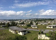 The former Futenma family housing area is scheduled to change into a large medical center, residential housing and park over the next 10 years.