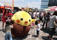 "Piyokara-kun is the very own mascot of Okinawan deep fried ""karaage"" chicken, who promises to be present at the Ti-da Blog 10th Anniversary Party."