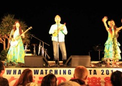 Saturday's Whale Watching Music Festival ends the Zamami whale watching season with a string of popular Okinawan entertainers on stage at Zamami Port.