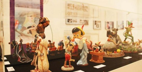 The exhibition features items from the earliest Mickey Mouse to Pixar animations.