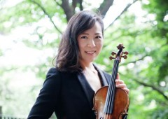 "Machiko Shimada plays violin in OIST chamber music concert ""Brahms and artist he loved."""