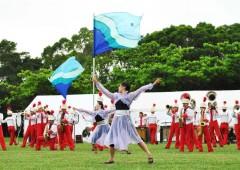 Nishihara High School Marching Band highlights the show.