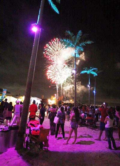 Fireworks will li the sky on both days.