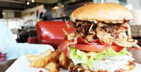 Now this you can call a burger!!! A sample from Captain Kangaroo's Hamburger Island.