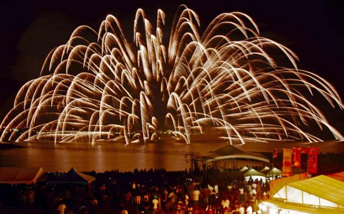 The Seaport Carnival on Sunset Beach is famous for its spectacular fireworks.