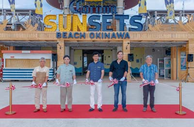 The Corona Sunsets Beach Okinawa opened on Jul. 1st and will stay in business through the summer unti Sep. 30.
