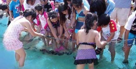 Both days of the Luau start with the traditional Hawaiian Hukilau net fishing experience.