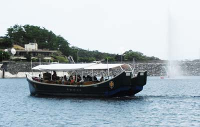 The sightseeing boat makes eight trips and carries up to 42 passengers each time.