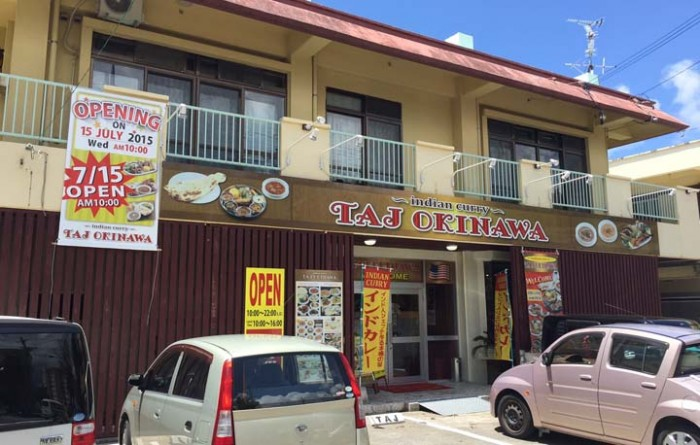 TAJ Okinawa's newest curry restaurant in Uruma City..