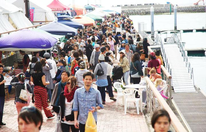 The first three Okinawa Food Fleas were hugely popular events held at Fisherina area in Chatan.