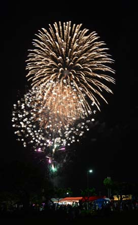 Massive fireworks show ends the festival on Sunday evening.