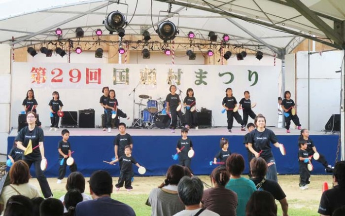 Most of the performances are by local youth groups.