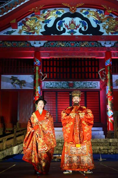 The King and Queen play a central role in all Shurijo Castle events, but this time, a new King and Queen will be selected in a contest during the Chushu-no-Utage celebration.