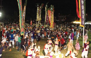 Many Eisa festivals end with kachashi, a dance in which everyone is invited to join.