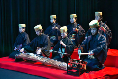 Classical Ryukyu Music accompanies a kumiodori performance.