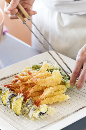 Tempura is made to perfection.