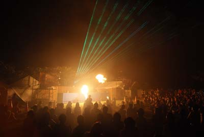 Project Agni Fire Dance Performance and Laser Show ends the party on both days.