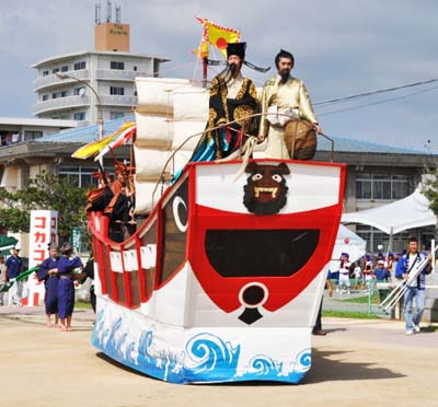 Noguni Soukan Parade on Sunday tells the story of the arrival of sweet potatoes to Okinawa.