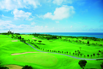 The PGA champion grade golf course has an ocean view from every hole.