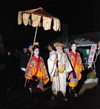 A procession featuring Taiki, the first envoy from the Ryukyu Kingdom to China to initiate trading relationship.