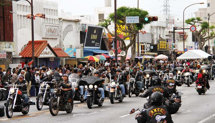 Some 300 Harley Davidson motorcycles are expected to take part in the largest motorcycle garthering on Okinawa, Sunday afternoon.