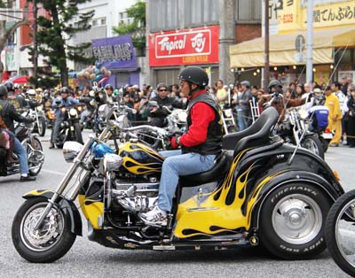 The Harley Parade features many quite impressive pieces of engineering.