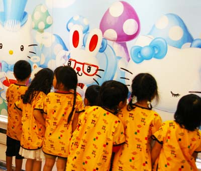 Hello Kitty is especially popular among young girls.