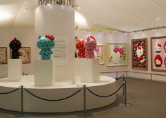 The exhibition features items from the 40th anniversary of Hello Kitty.