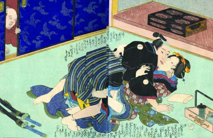 Shunga most often came in the form of woodblock prints that people carried with them as lucky charms in their pockets.