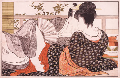 Characters in shunga were fully clothed as nudity was not considered erotic.