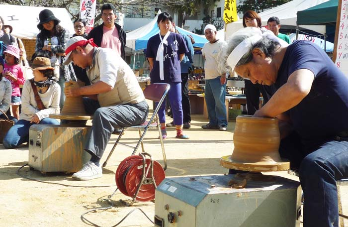 'Kami Subu' event on Sunday pits pottery artisans against each other in a contest to see who makes the best looking item the fastest.