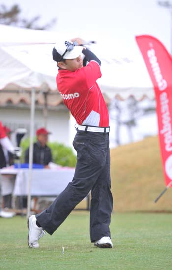 Corporate Games Golf Tournament is held at Orion Arashiyama Golf Club in Nakijin Village