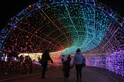 "Chura-Sun Beach has ""Tunnel of Light"""