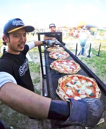 Scarpetters food catering team will bake tasty pizzas at the Kanaderu Park event.