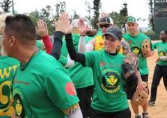 Bovino's Brazilian Restaurant fielded a softball team in the first games.