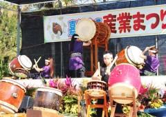 Kadena's Soukan Taiko drum group performs at the fair.