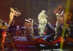Dragons and lions abound in the show as they have always held an important place in Ryukyu mythology.