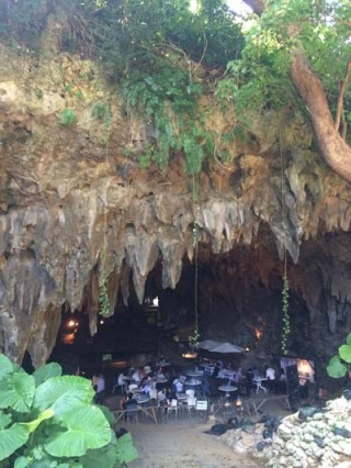 The venue of 'Tokoiriya' Okinawa show, Gangala Valley Cave Cafe in Tamagusuku, adds mystique to the performance.
