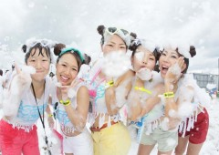 The first Okinawa Bubble Run expects 6,000 people for the 2-km course and after party.